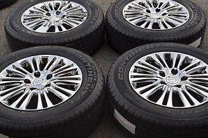 "17"" Chrysler Town Country Dodge Caravan PVD Chrome Wheels Rims Tires 2402"