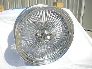 "18"" inch Chrome Genuine Player Wire Wheel New Set 4 Dayton Style 100 Spoke Rims"