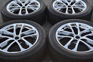 "18"" Nissan Altima Maxima PVD Chrome Wheels Rims Tires 2009 2013 62521"