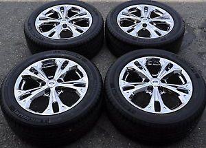 """17"""" Ford Fusion PVD Chrome Wheels Rims Tires 2011 2012 3871"""
