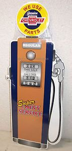 We Use Genuine Chevrolet Parts Super Chevy Service Gas Pump Tin Sign Camaro