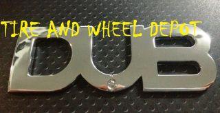 1 Dub Emblem Chrome New Badge Rims Wheels Tires Free Shipping See My Store
