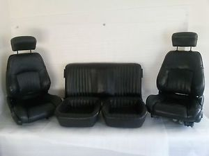 82 02 Trans Am Firebird Camaro Ebony Seats Complete Set Front and Rear 12