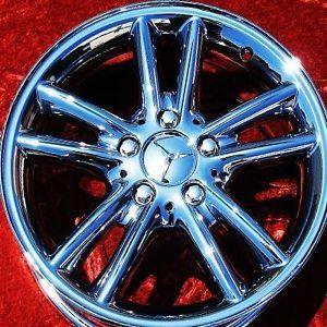 "Exchange Set of 4 New Chrome 16"" Mercedes Benz C230 C280 Wheels Rims 65260"