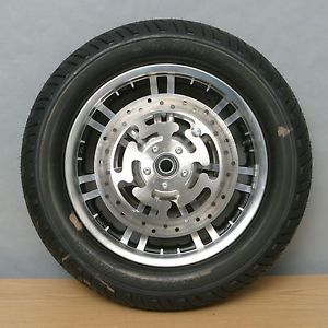 Harley Davidson Front Wheel and Dunlop Tire Dual Disc Touring FLH Cast 7 Spoke