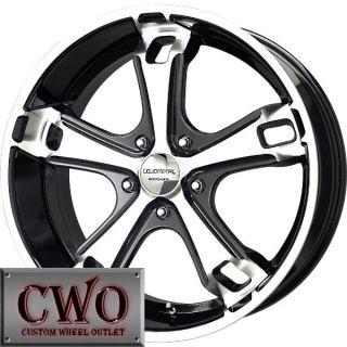 20 Black LM Dyno Wheels Rims 5x139 7 5 Lug Dodge RAM Durango Dakota Ford