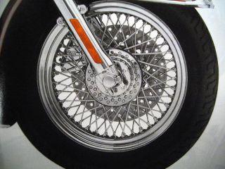 Harley Davidson Chrome 80 Spoke Laced Custom Wheel Front