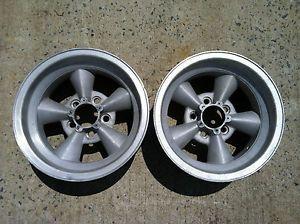 "American Racing Equipment Torq Thrust 14""x 7"" Vintage Classic Car Wheels 2"