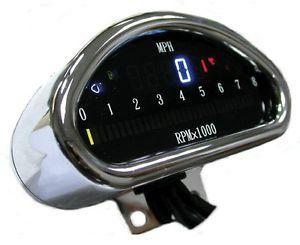 EPS13970 Harley Speedometer Tachometer Chrome Mount Cups FXR Dyna XL