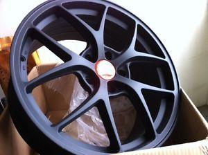 """18"""" BBs F1 Style Wheels Matte Black Audi VW A4 S4 A5 S5 A6 S6 A8 S8 Q5 CC Passat"""
