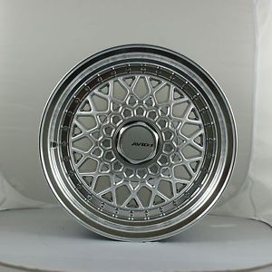 "Set of 4 15"" BBs RS 606 Style Wheels 15x8 4x100 25 Civic EK XB VW GTI E30 E21"