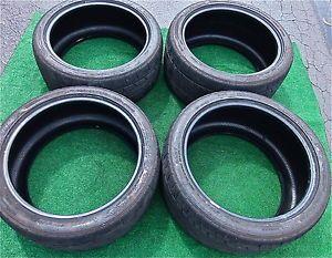 4 Dunlop SP Sport Maxx GT 600 DSST CTT Tires 255 40ZRF20 285 35ZRF20 Nissan GTR