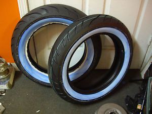 2 new avon cobra white wall tires 150 80 16 rear mt90 16 front