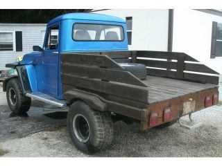 1955 55 Jeep Pickup Truck 4x4 Custom 71 Chevy Blazer Chassis Wood Bed Rails