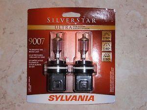 OSRAM Sylvania 9007 Su 2 Bulbs Silverstar Ultra Night Vision Headlamps SEALED