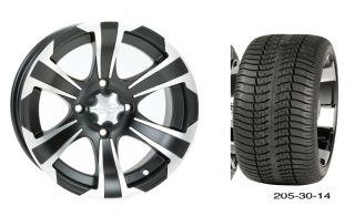 "14"" Golf Cart Wheels Rims Tires EZGO Club Car Yamaha"