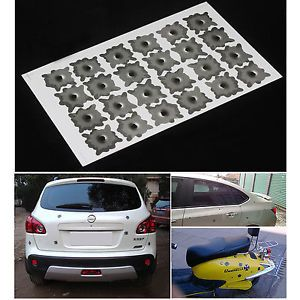 24 Holes Fake Bullet Hole Funny Car Helmet Stickers Decals Special