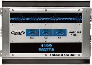 Jensen 5 Channel 1100 Watt Car Amplifier Amp 5 CH 1100W POWERPLUS1105