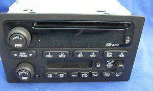 Delphi Delco Car Radio Cassette CD Player 2003 Chevy Trailblazer 15169582 2