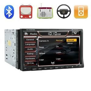 """HD Double 2 DIN 7""""in Dash Car Stereo DVD CD Player FM Am Radio TV iPod Bluetooth"""