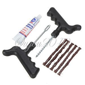 Safety Car Auto Tubeless Tire Tyre Puncture Radial Plug Repair Cement Tool Kit