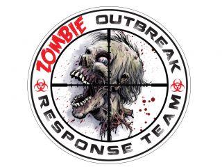 "Zombie Outbreak Response Team Decal Sticker 5"""