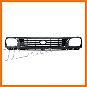 1995 1996 Toyota Tacoma 2WD Gray Finish Grille Grill New Front Body Parts