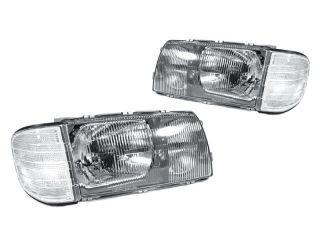 Depo 81 91 Mercedes Benz W126 Euro Glass 4D Headlights Corner Lights Pair Wiring