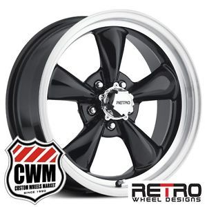 "17x7"" 17x8"" Retro Wheel Designs Black Wheels Rims for Dodge Charger 1971"