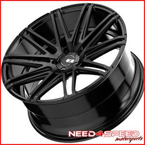 """20"""" Acura TL XO Milan Matte Black Staggered Concave Wheels Rims"""