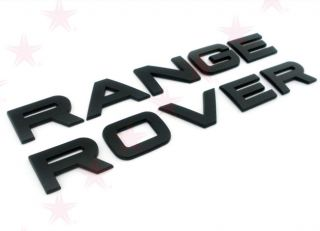 Range Rover Sport 2002 Up Letters Tailgate Emblem Badge Hood or Trunk