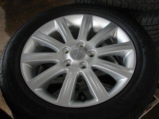 "4 17"" Chrysler 200 10 Spoke Alloy Wheels Rims w Continental Tires 2391"