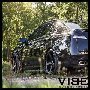 "20"" Rohana RC22 Black Concave Wheels Rims Fits Acura TSX"