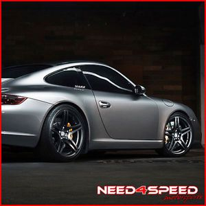 "19"" Porsche 987 Boxster s Roderick RW5 Black Concave Staggered Wheels Rims"