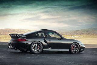 "19"" Porsche 911 997 Turbo Wide Ruger Concave Silver Wheels Rims Hankook Tires"