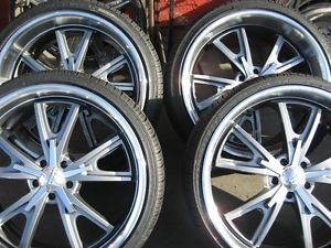 22 American Racing VN801 Wheels Rims Tires 2010 2013 Chevy Camaro FOOSE Cragar