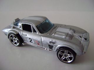 2008 Hot Wheels New Models 8 Corvette Grand Sport Silver 08 40