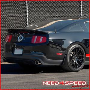 """20"""" Ford Mustang Shelby GT500 Concave Matte Black Staggered Wheels Rims"""