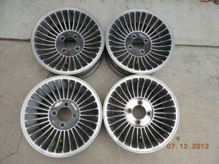 Set Western Hurricane Cyclone Mag Wheels Fiat Alfa Romeo Alfetta Lancia Turbine