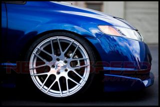 """19"""" Ground Force GF07 Silver Concave Rims Wheels Fits Infiniti G35 Coupe"""