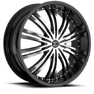 "18"" inch 4x100 4x4 5 Black Machined Face Wheels Rims 4 Lug Honda Nissan 2"" Lip"