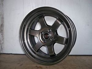 16 Rota Grid V Black Rims Wheels 16x8 20 4x100 BMW E30 Scion XB Yaris Miata