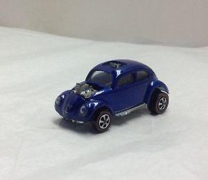 1967 Original Hot Wheels Red Lines Dark Blue Custom Volkswagen VW Bug USA Base