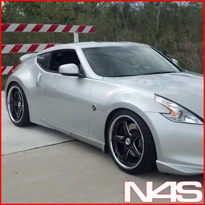 """Brand New 20"""" Nissan 350Z Vertini Drift Black Staggered Wheels Rims"""