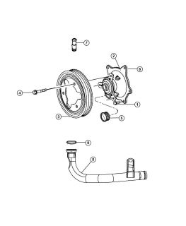 New Genuine Mopar 04781157AC Water Pump