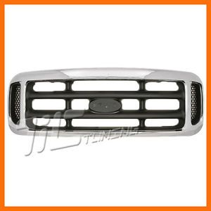 1999 2004 Ford F250 Superduty Honeycomb Chrome Grille Grill Front Body Parts