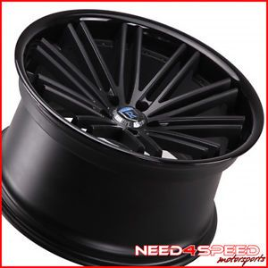 """20"""" Honda Accord Coupe Rohana RC20 Concave Black Staggered Wheels Rims"""