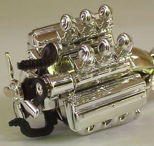 1 Hemi Motor Only w 6 Carbs Hot Wheels 1 18 Mopar Chrysler Car Parts Chrome