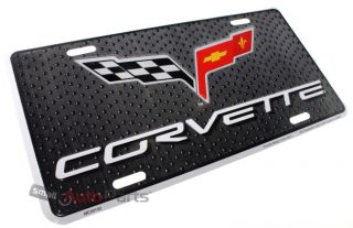 Chevy Corvette License Plate Aluminum Stamped Embossed Metal C2 C3 C4 C5 C6 Tag
