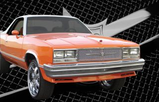 1979 1987 Chevy El Camino Chrome Mesh Grille Grill Dual Weave Bentley Mesh 1pc